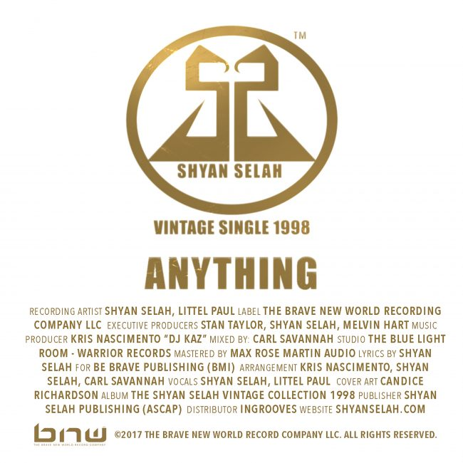 Shyan Selah - Anything-single artwork