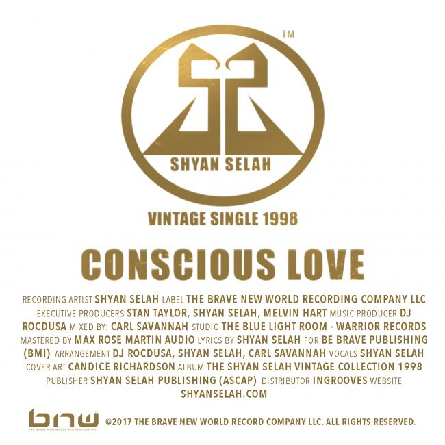 Shyan Selah - Conscious Love - single artwork