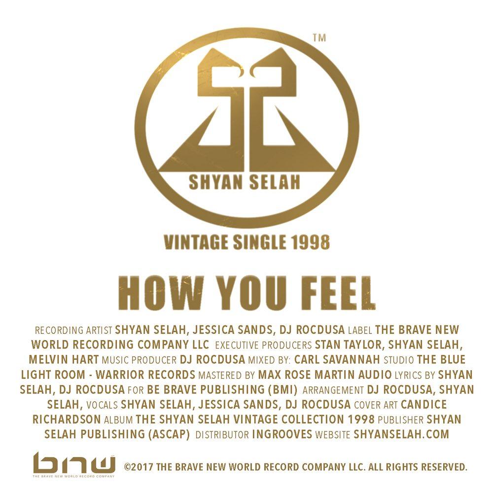 Shyan Selah - How You Feel - single artwork
