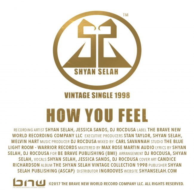 Shyan Selah - How You Feel - single artwork