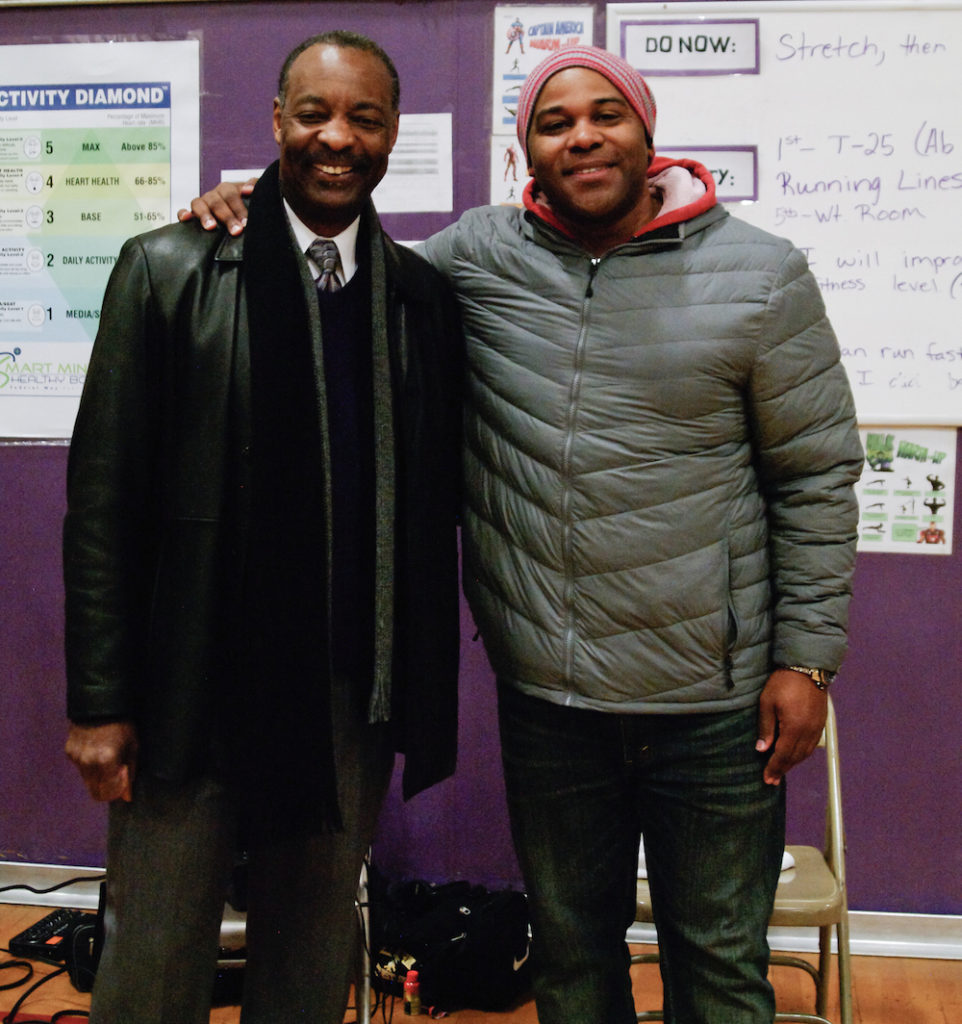 Illahee Middle School Principal Jerry Warren and Shyan Selah in Federal Way