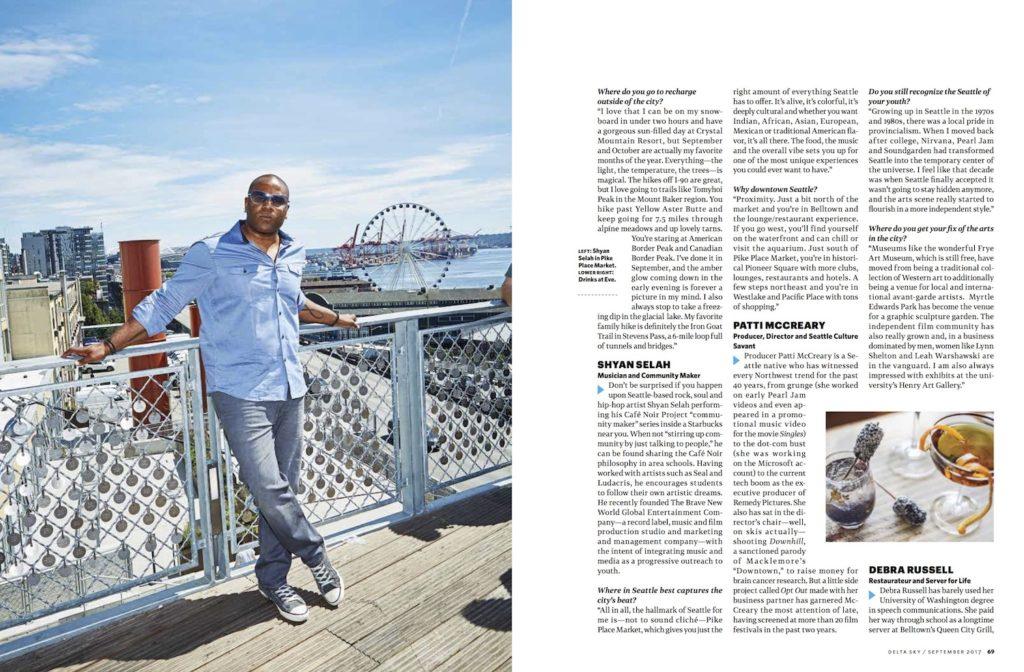 Shyan Selah in Delta Sky Magazine